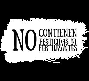 No contienen pesticidas ni fertilizantes