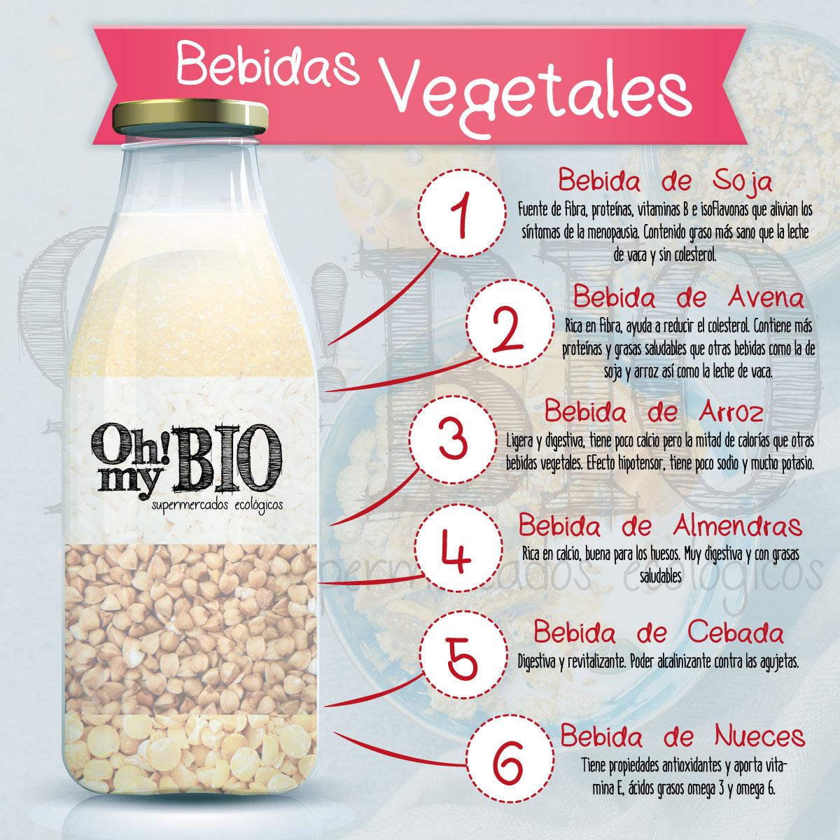 Bebidas vegetales Oh My Bio