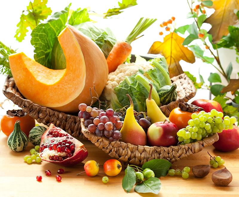Los diez mejores alimentos para el otoño