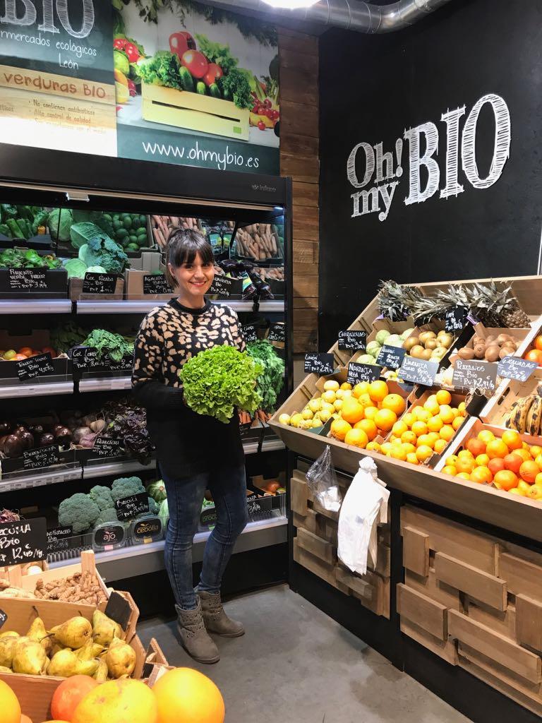 Sandra López, gerente de la cadena de supermercados ecológicos Oh!MyBio