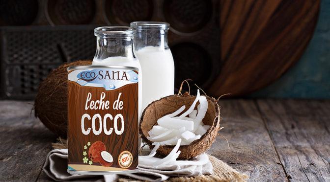 Leche de coco de Ecosana