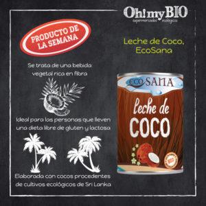 Leche de coco Ecosana
