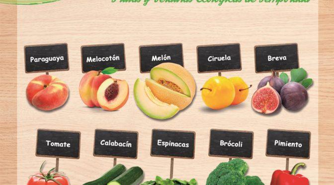 Frutas y verduras de temporada en junio.