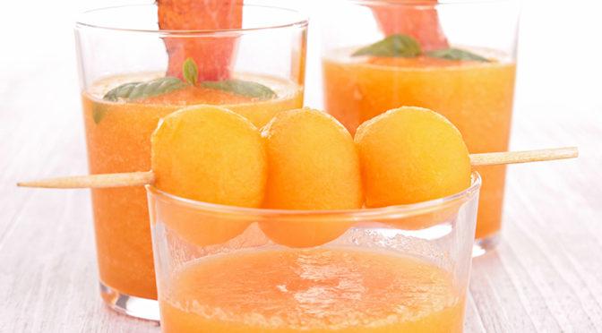 Gazpacho melón, de aguacate o de frutos rojos