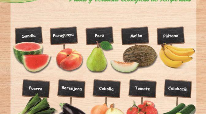 Frutas y verduras de temporada en julio