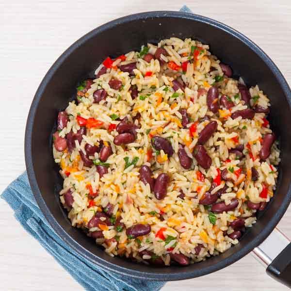 receta de arroz meloso con azukis