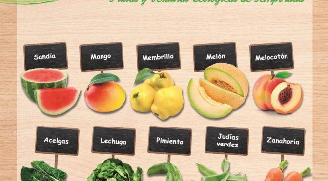 Frutas y verduras de temporada en agosto.