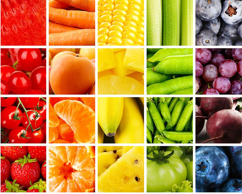 El color de las frutas y verduras